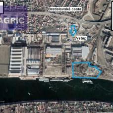 Pozemok pre logistiku s prístaviskom pre lode v Komárne na predaj - 25 375 m2